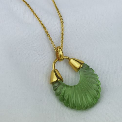 Cut Glass Hoop Necklace